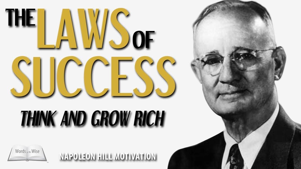 Napoleon Hill Motivation Laws Of Success Original Full Length Motivational Video Youtube