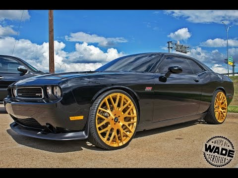 Srt8 Challenger 24 Quot Brushed Gold Forgiatos By Trendsetters