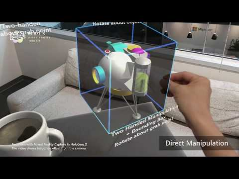 News: The Magic of Microsoft's HoloLens 2 Hand Interaction on Display in Mixed Reality Toolkit v2 Demo Video