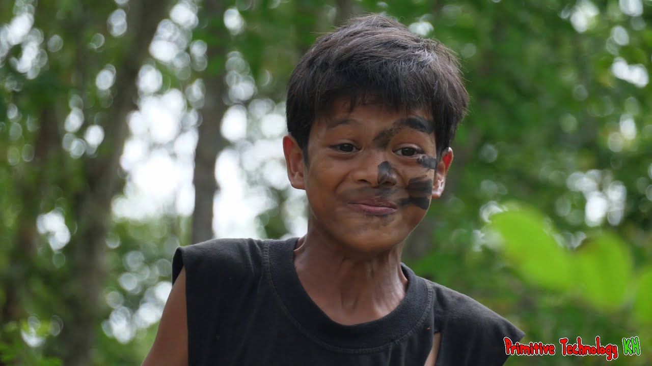 Primitive Technology - Eating  Fruit Durian Delicious In Jungle #134