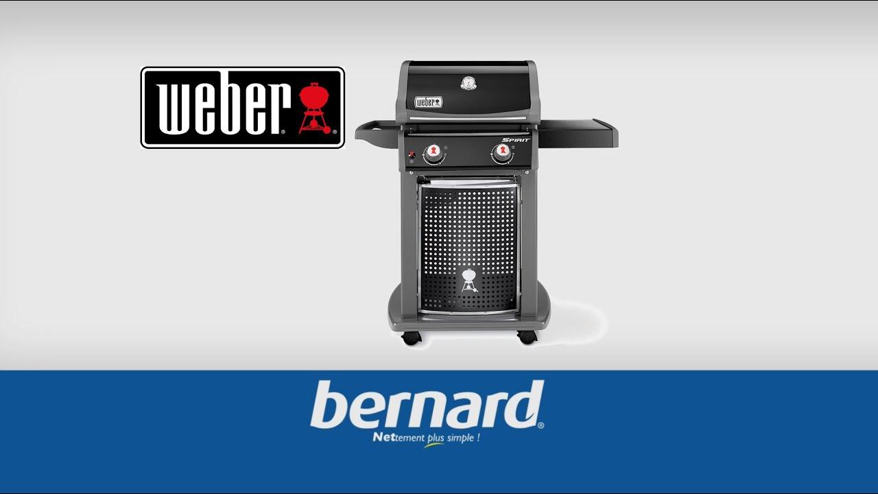 barbecue gaz weber spirit eo 210 noir bernard youtube. Black Bedroom Furniture Sets. Home Design Ideas