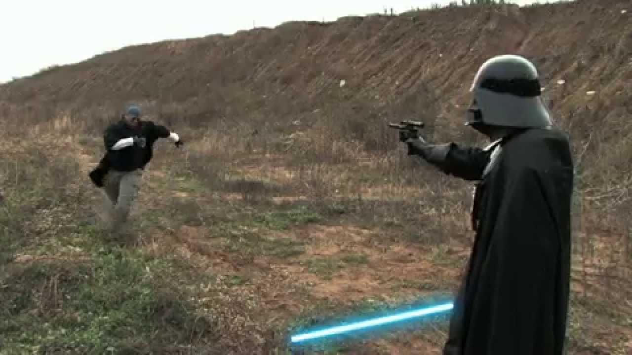 Batman vs Darth Vader : lightsaber duel