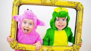 The Animal Sounds Song - kids songs from Gaby and Alex