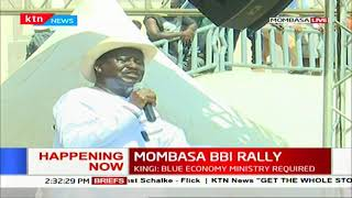 "'No one can stop Reggae' Raila Odinga ""We must be iron like a Lion in Zion"" #MOMBASA BBI RALLY"