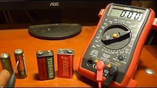 Como Medir La Carga De Una Pila o Bateria Checar Voltaje De Las Pilas o Baterias