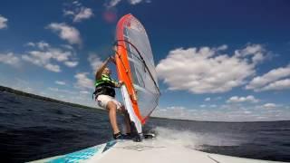 Drone windsurfing video. Виндсерфинг - съёмка с квадрокоптера и GoPro