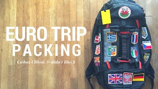 EURO TRIP PACKING (what i liked, & didn