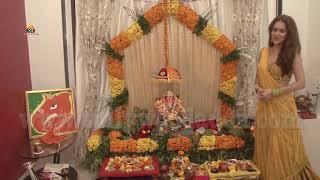 Shweta Khanduri Celebrates Ganesh Chaturthi With Family.