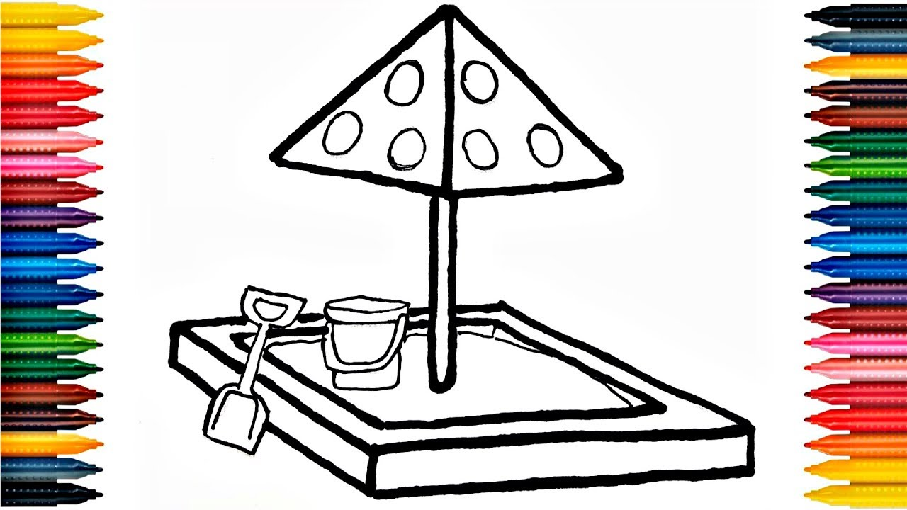 Uncategorized Playground Drawing drawing playground outdoor how to draw and learn colors with for kids