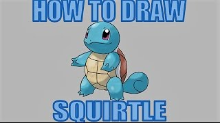 How To Draw Squirtle!!!