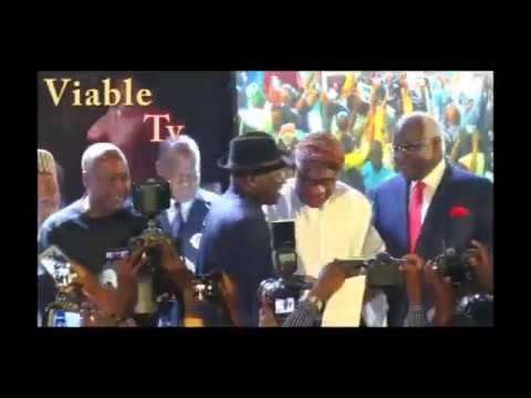 Drama At Jonathan's Book Launch As Oshiomhole, Akpabio,OBJ Make Surprise Appearances