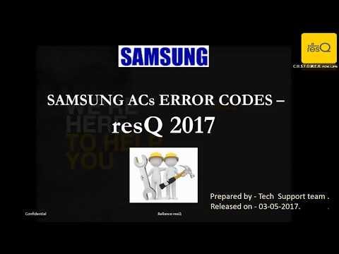 Samsung Inverter & none Inverter AC Error codes E121,E122,E1-01,E1-22,E2-02,E4-16,E1,E2,E3,E4,F1,&F2