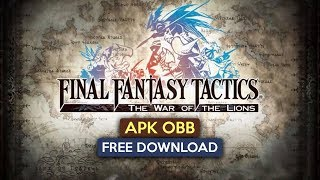 Gambar cover Final Fantasy Tactics Wotl Apk OBB for Android free Download 2019