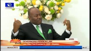 Akpabio Says New Pension Law Will Reduce Medical Cost Part1