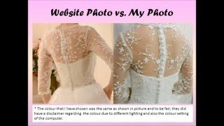 Tbdress reviews from a customer Natalie Woon 【Buying My Wedding Dress Online   Hit or Miss】
