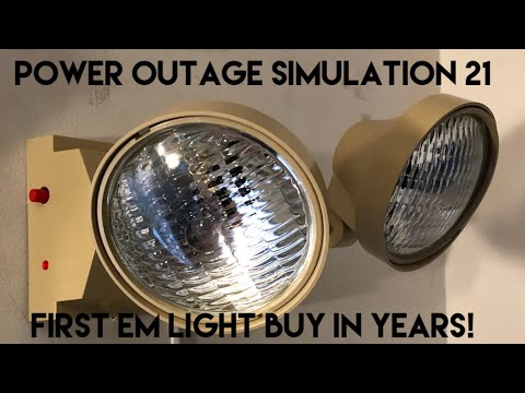 Power Outage Simulation 21 - New Emergency light, Its been 2 years since I bought one!