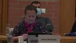 Karen Degouve, conseil municipal du 10 mars 2021