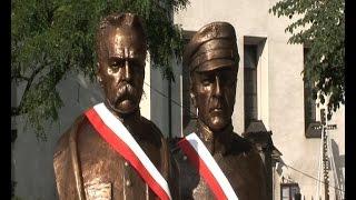 Odsłonięcie pomnika Bolesława Długoszowskiego i Józefa Piłsudskiego