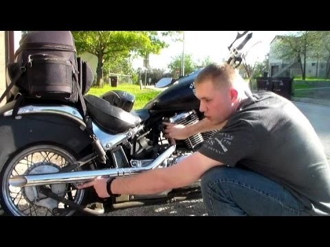 How-to install a cobra exhaust on 2006 suzuki boulevard C50 by DIY with Chris