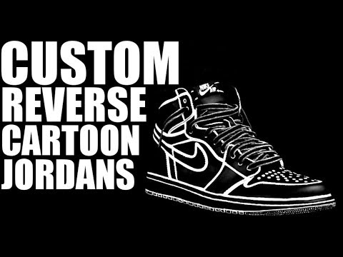 CUSTOM REVERSE CARTOON JORDAN 1!!