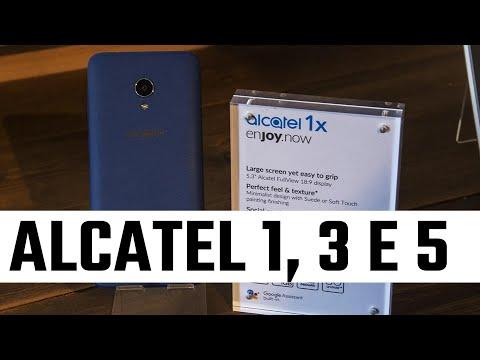 Alcatel serie 1, 3 e 5 presentati al MWC 2018. Eccoli in anteprima
