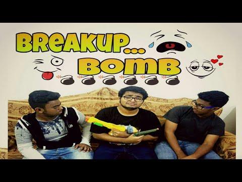 Breakup Bomb || New Year break bomb video || Bangla funny video || falak thepangkha