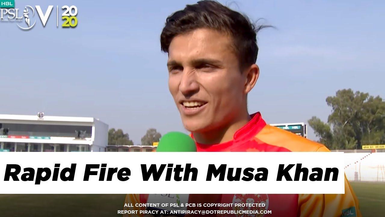 Rapid Fire With Musa Khan | Favourite Moments | HBL PSL 5 | 2020