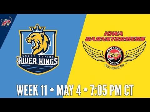 IFL Week 11 | Cedar Rapids River Kings at Iowa Barnstormers