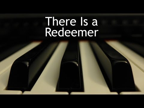 There Is a Redeemer - piano instrumental cover with lyrics