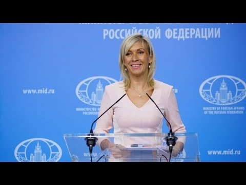 MFA spokesperson Maria Zakharova holds the weekly briefing