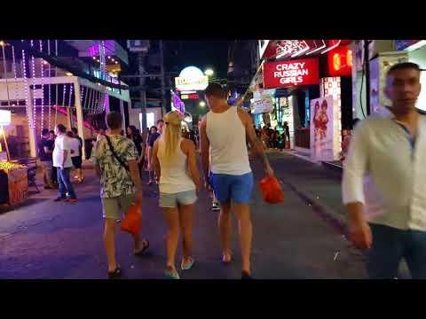 Walking Street Pattaya Friday Night 20.01 2018 1:20am