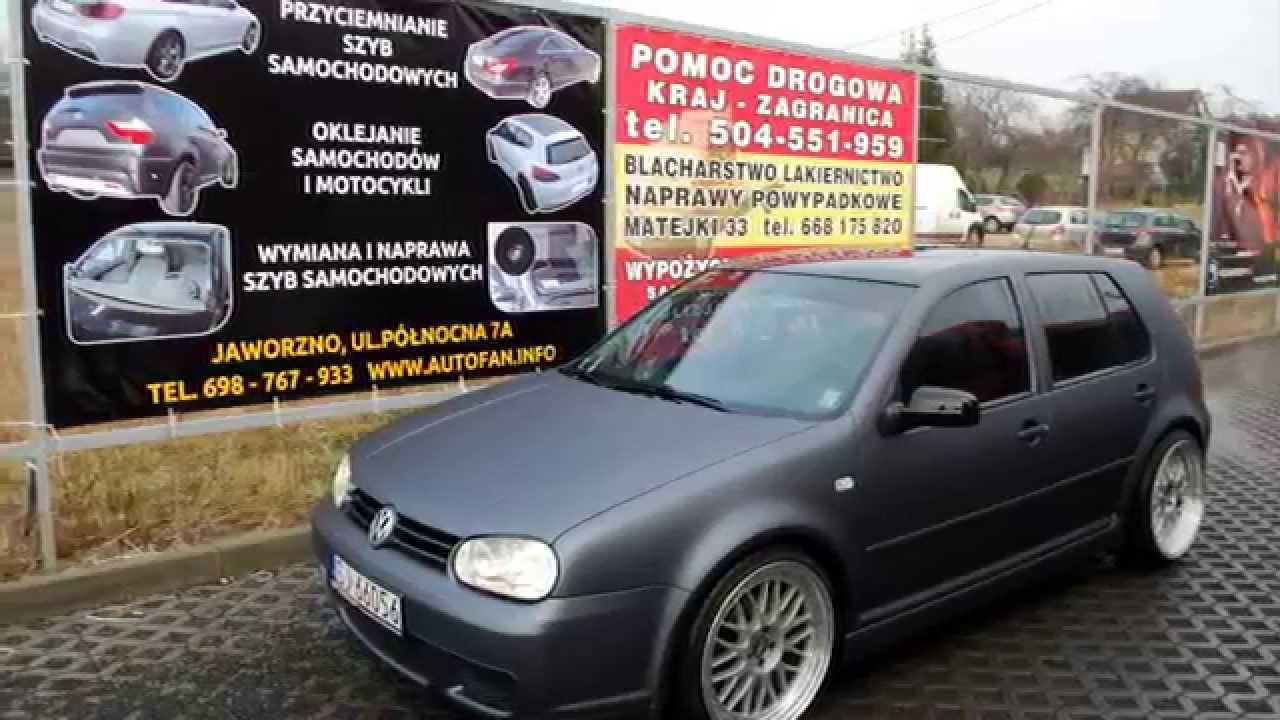 oklejanie karoserii vw golf iv autofan jaworzno youtube. Black Bedroom Furniture Sets. Home Design Ideas