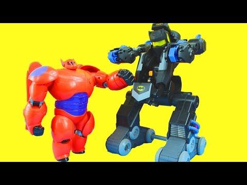 Imaginext Robot Wars with Batman Batbot Joker Bane Big Hero 6 Baymax Green lantern DC Superhero