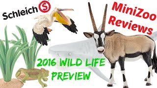 Schleich 2016 Wild Life and Ocean Animals Preview