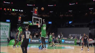 Celtics Bench Goes Wild After Tacko Fall Banks In Three