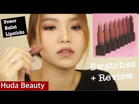 REVIEW+SWATCH FULL SET ROSES COLLECTION - HUDA BEAUTY DÒNG SON MỚI POWER BULLET LIPSTICKS