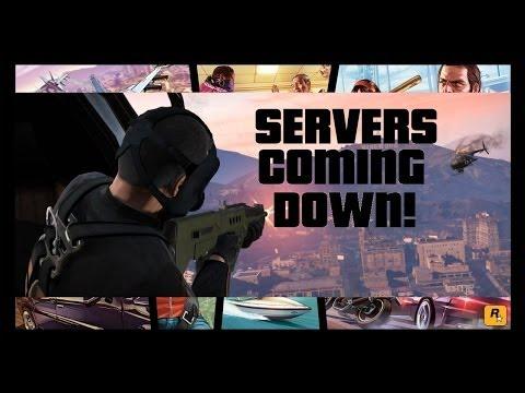 GTA V Online Servers Coming Down! Big Maintenance!