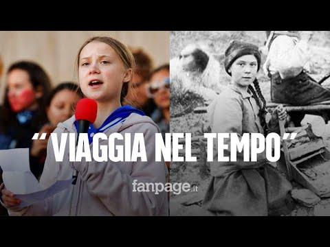'Greta Thunberg viaggia nel tempo', la verità sulla foto con la sosia dell'attivista svedese