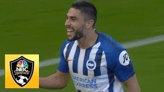 Neal Maupay's acrobatic finish breaks deadlock against Burnley | Premier League | NBC Sports