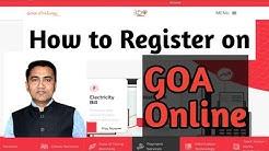 How to register on Goa Online|Goa|2020