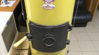 видео Твердотопливный котел Stropuva S40P