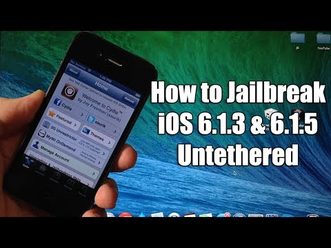 How to Jailbreak iOS 6.1.3 & 6.1.5 Untethered - iPhone 3GS, 4, iPod Touch 4G from YouTube · Duration:  7 minutes 37 seconds