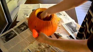 How To Carve A Pumpkin Using Pattern Stencils