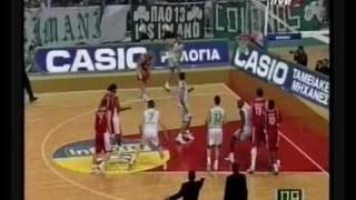 PAO vs Olympiakos 80-89 Greek League 2002 SF