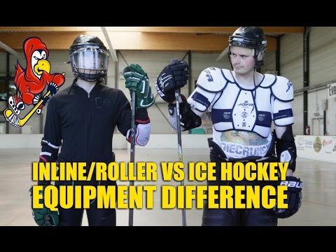 Difference Between Ice And Inline Hockey Equipment - Ice Hockey Vs Roller Hockey