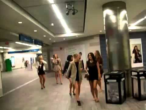 Drunk Girls in Mini Skirts Titillate Canada Line Train Station360p H 264 AAC