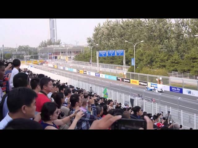 フォーミュラE北京・新時代レース決勝のスタートの瞬間