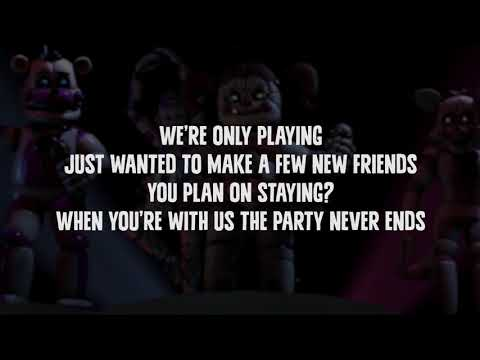 FNAF SISTER LOCATION Song LYRIC VIDEO by JT Machinima   Join Us For A Bite