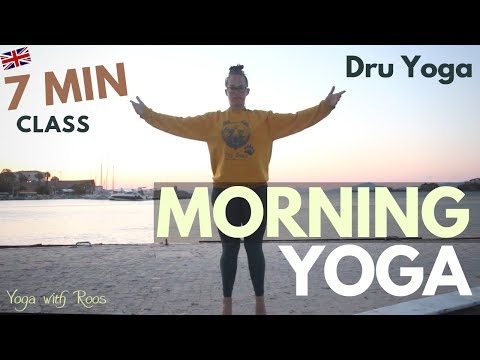 Morning Yoga | 7 Min Full Body Wake Up Class | Dru Yoga With Roos