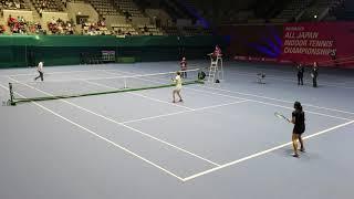 2018年2月24日島津アリーナで行われた第55回島津全日本室内テニス選手権...